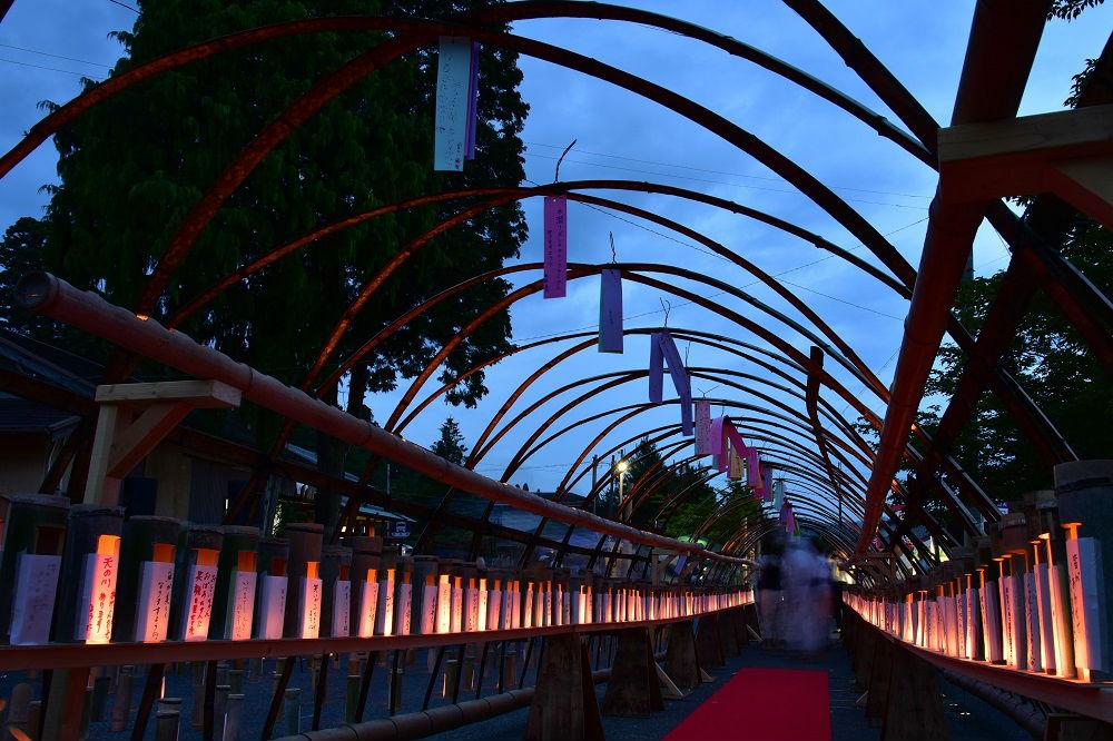 竹とうろうの灯りに願いをのせて「くもい竹宵の夕べ」☆彡