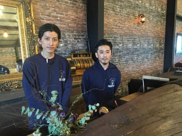 ハイドアウェイファクトリー森下オーナー(左)と副代表の大川さん(右)