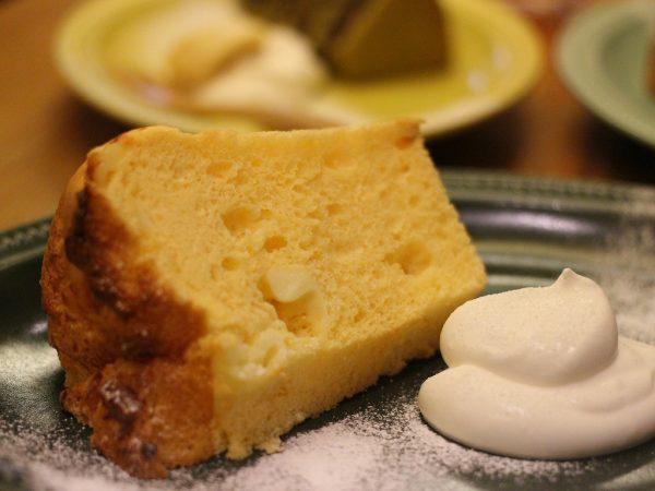 カフェアリビオのシフォンケーキ