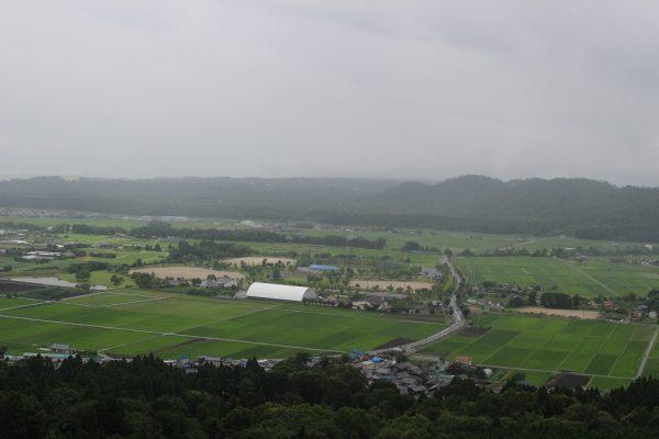 箱館山に向かうゴンドラからの景色