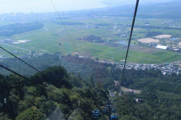 箱館山ゴンドラ乗車