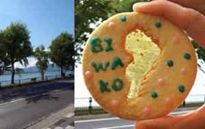 7/1〜31「びわ活」で『びわ湖クッキー』。in トマトクッキングクラブ 滋賀スタジオ