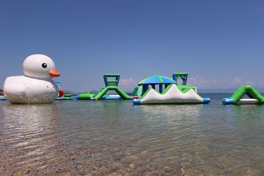 びわ湖レジャーを200%楽しめる!白ひげ浜にウォーターパークOPEN【高島市】