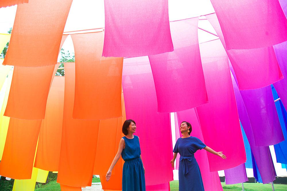 【6/29】びわこ箱館山に「高島ちぢみが織りなす虹のカーテン」が登場!
