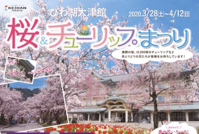 【~4/12(日)】桜&チューリップまつり びわ湖大津館【1万球のチューリップ&桜&春の花々】ワークショップも開催★