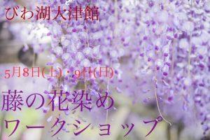 【5/8(土)9(日)】藤の花染めワークショップ【びわ湖大津館】桜&チューリップフェアも開催★